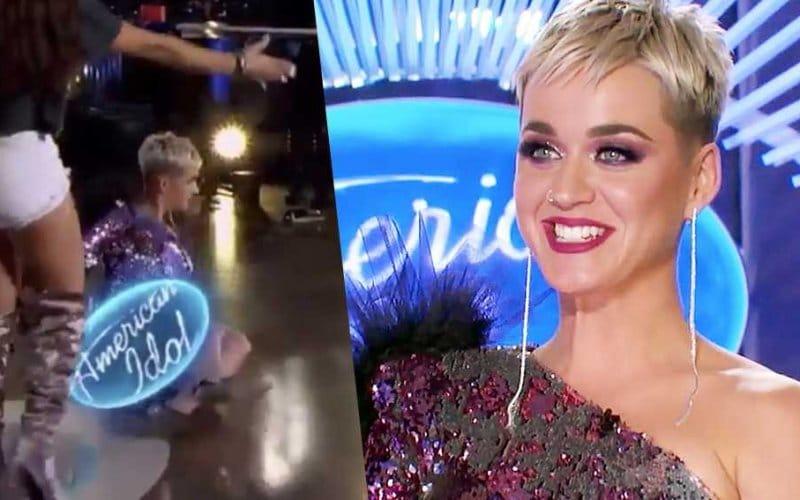 katy perry falls on american idol