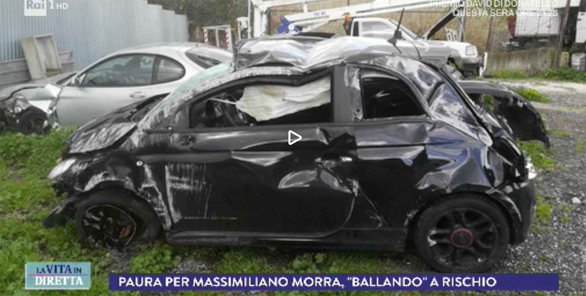 massimiliano morra incidente ballando stelle