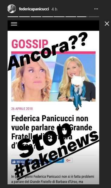 federica panicucci fake news