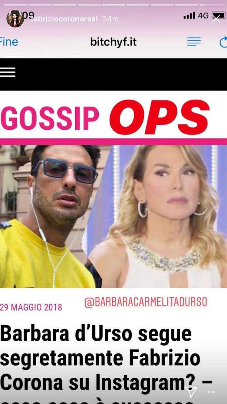 Fabrizio Corona Barbara d'Urso