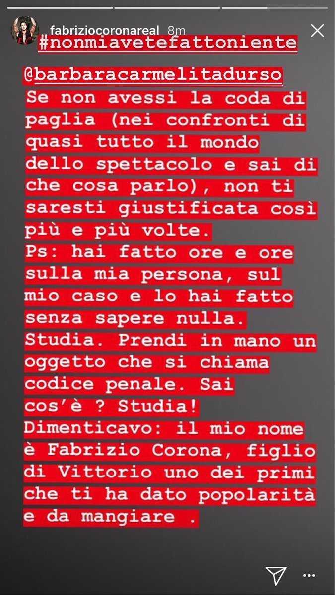 Fabrizio Corona Risponde A Barbara d'Urso