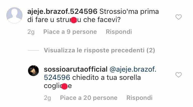 Sossio Aruta Insulti Instagram (3)