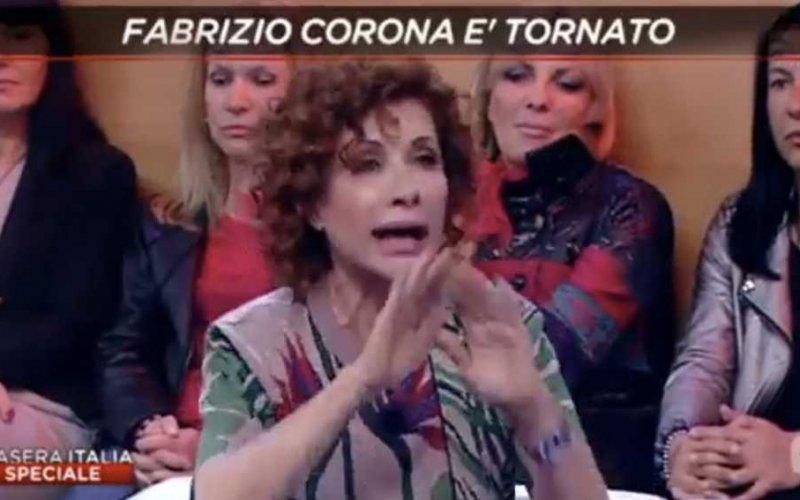 alda deusanio fabrizio corona stasera italia