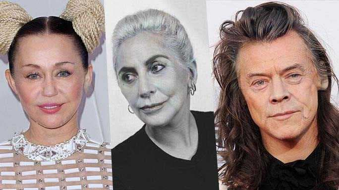 Miley Cyrus Lady Gaga Harry Styles Old