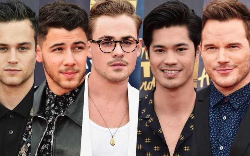 mtv movie awards red carpet men brandon chris nick flynn