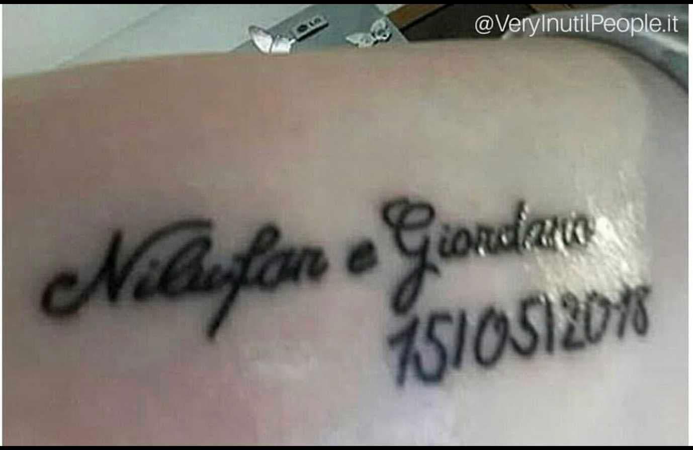 nilufar giordano tatuaggio