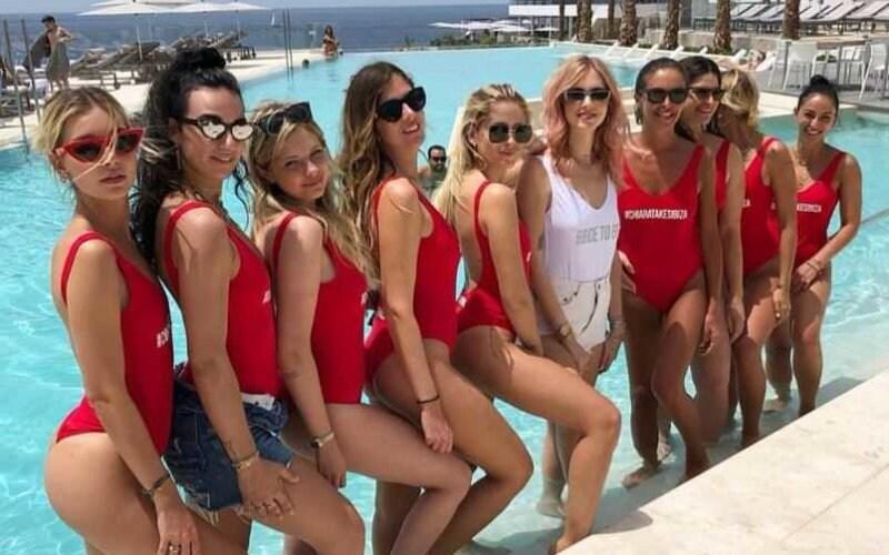 Chiara Ferragni Amiche Ibiza