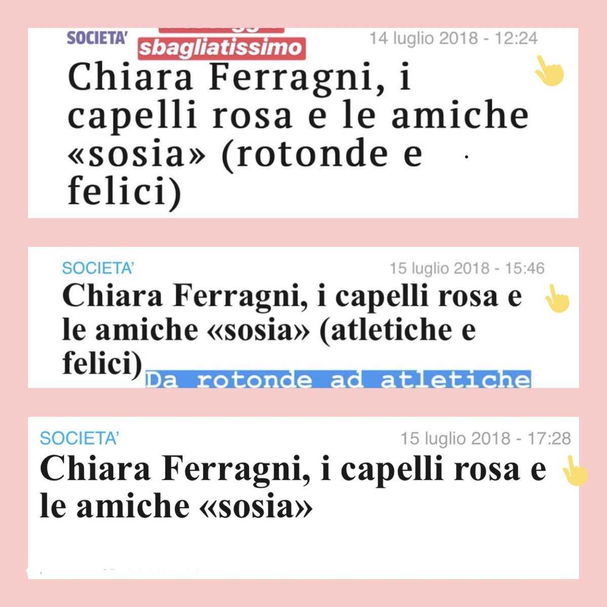 Chiara Ferragni Corriere Vari Titoli