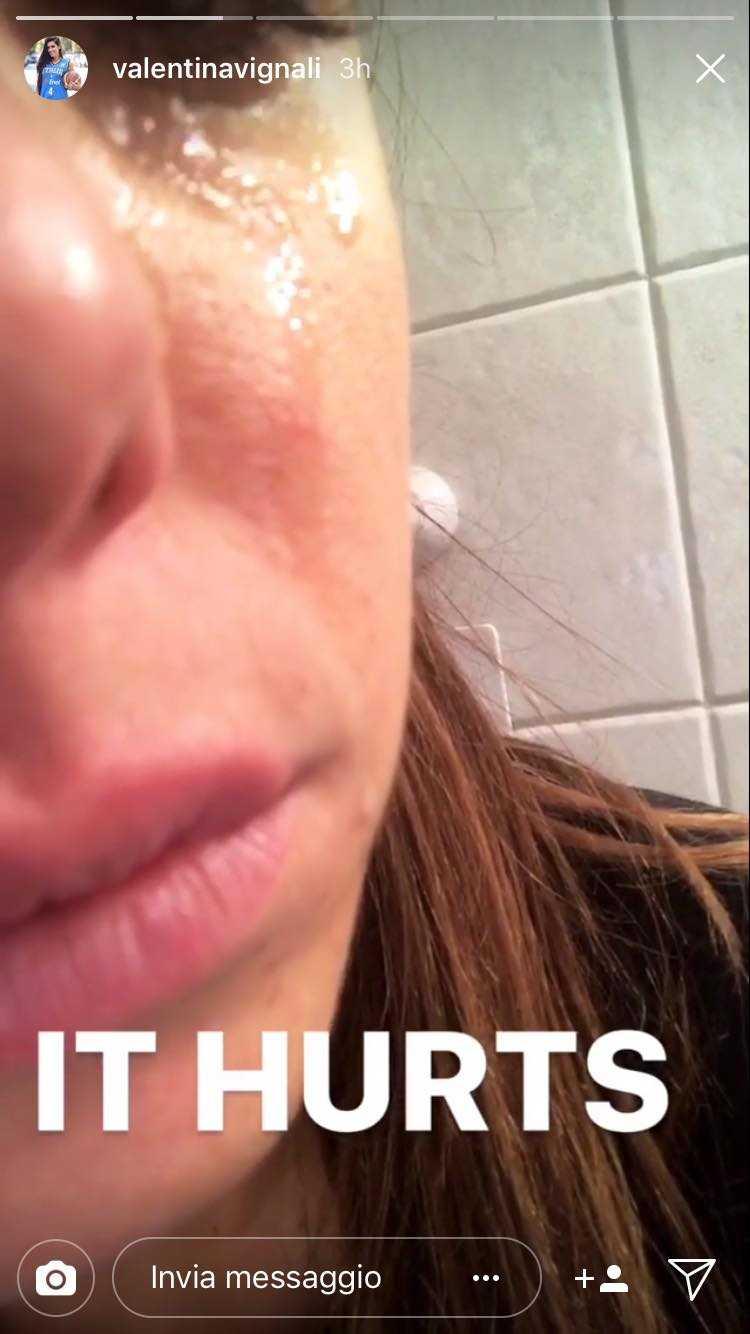 Valentina Vignali piange 2
