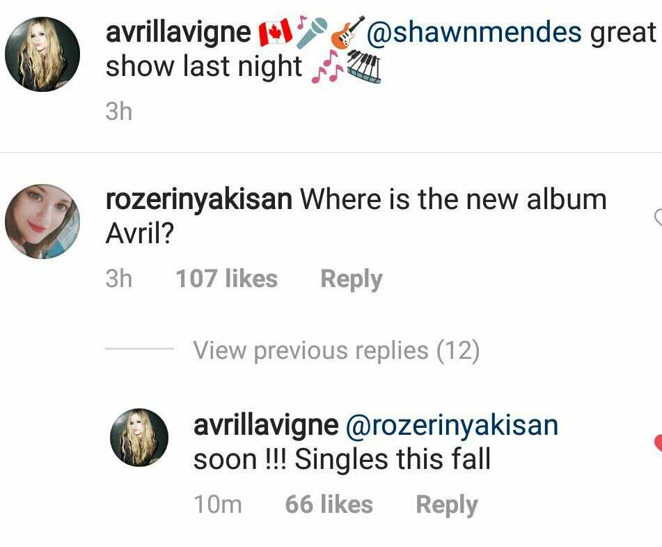 avril lavigne new singles fall