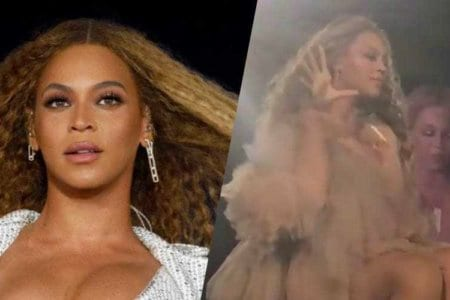 beyonce dropped mic on the run II video