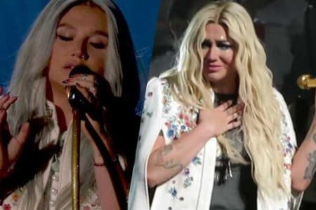 kesha praying cry crying live cincinnati