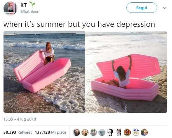 materassino a bara rosa