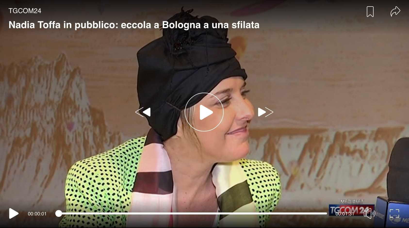 nadia toffa tgcom aggiorna condizioni bologna