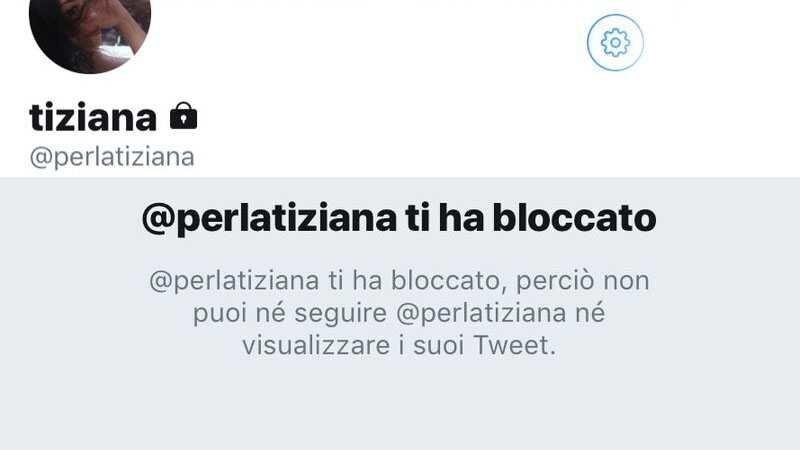 perla tiziana blocca twitter utente ragazza