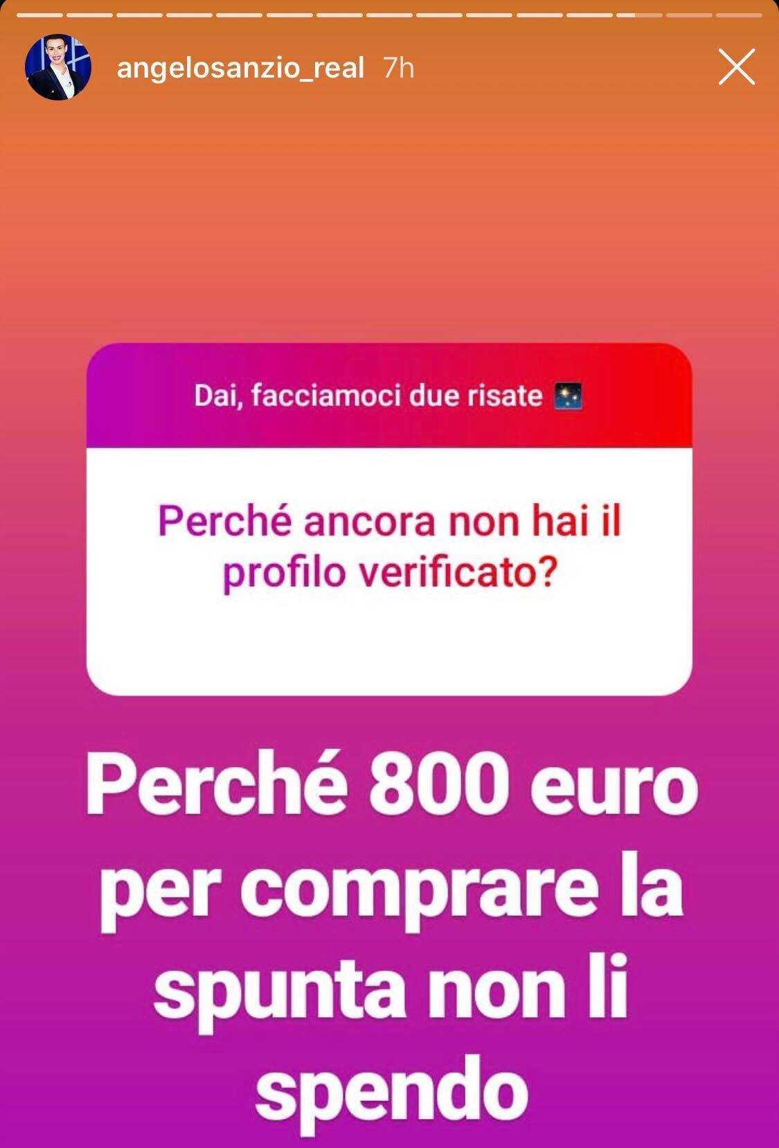 spunta blu di instagram