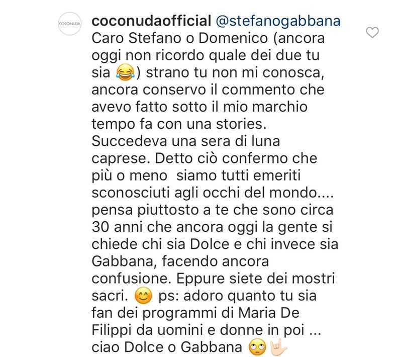 Coconuda Gabbana