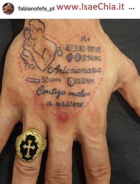 Fabiano Reffe Tatuaggio Mano