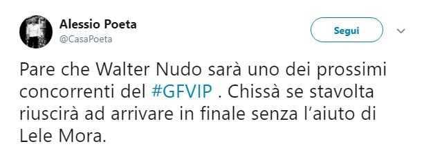 Walter Nudo GF Vip