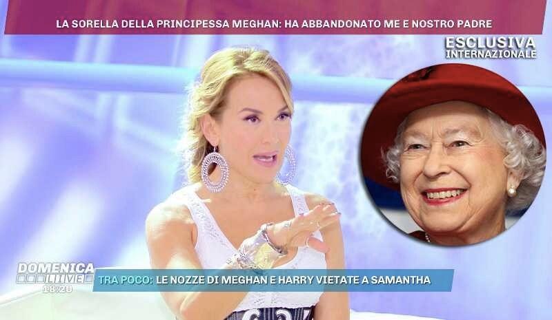 Barbara d'Urso Regina Elisabetta