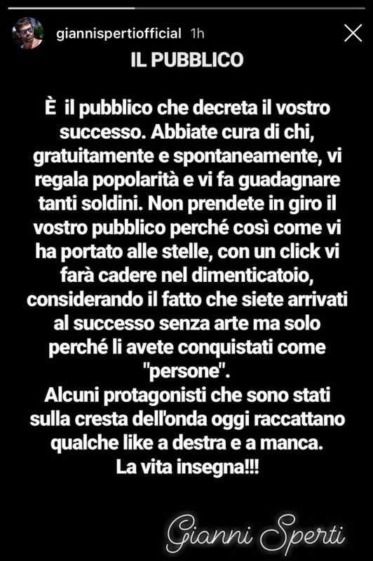Gianni Sperti Instagram