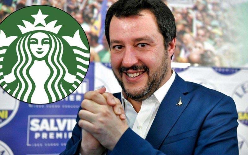 Matteo-Salvini Starbucks