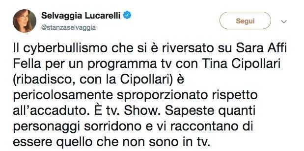 Selvaggia Lucarelli Sara Affi Fella
