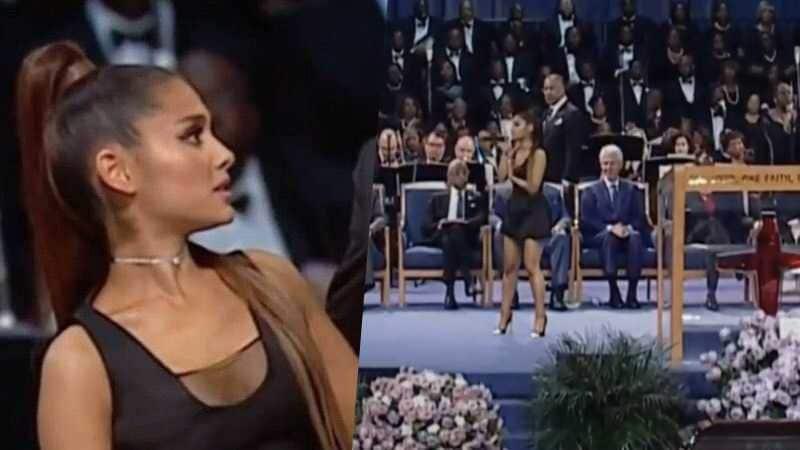 ariana grande pastor omg funeral aretha