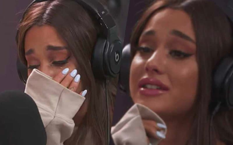 ariasna grande crying singer popstar twitter