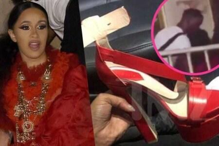 cardi b shoe scarpa lancio video clip nicki
