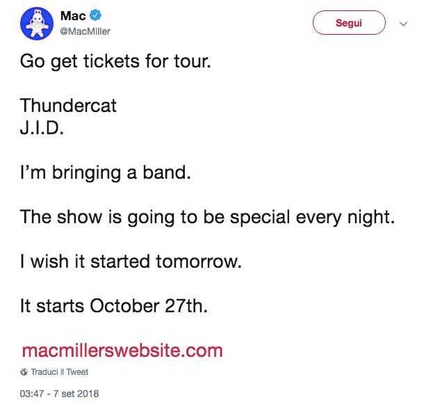 mac miller tour