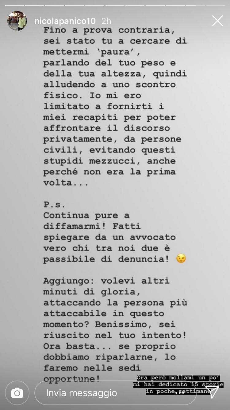 Nicola Panico Denuncia