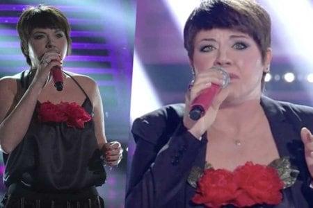 Roberta Bonanno imita Alessandra Amoroso.