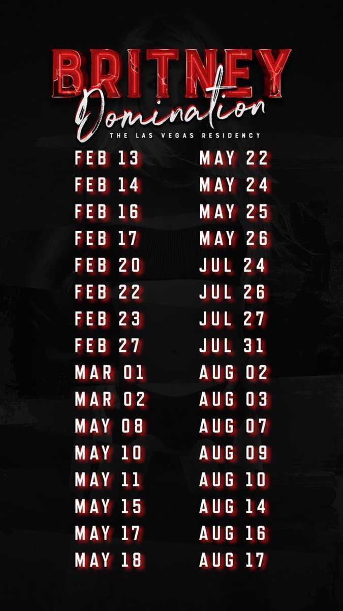 britney domination dates