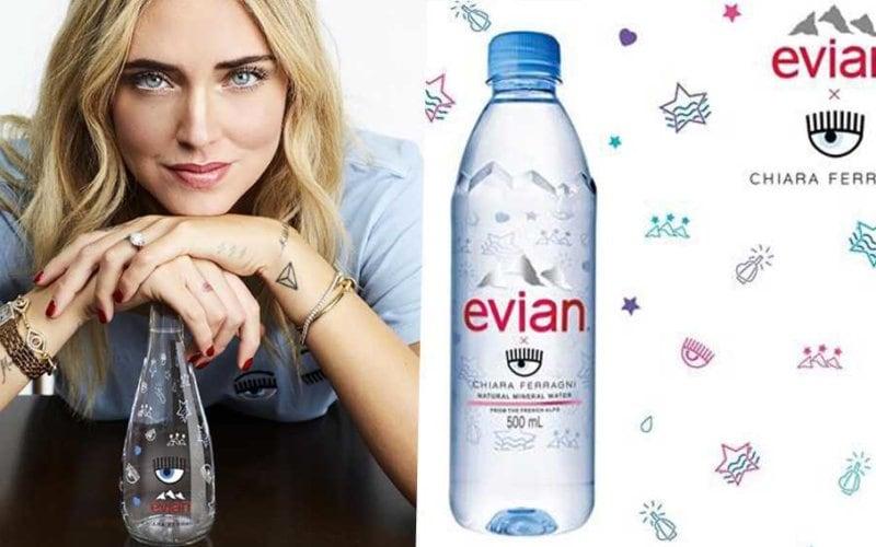 L'acqua Evian di Chiara Ferragni costa otto euro.