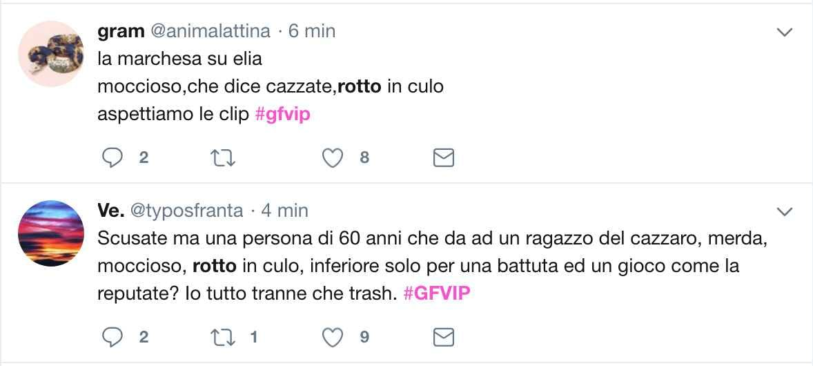 rotto twitter offese insulti marchesa elia fongaro