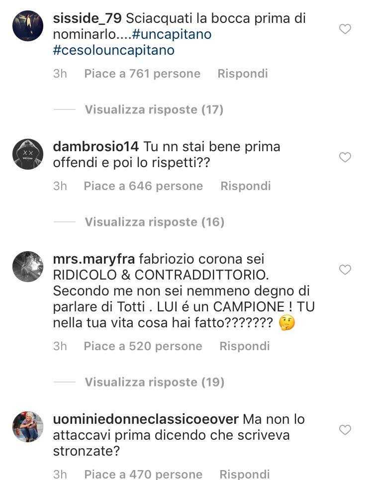Corona dopo aver minacciato Totti fa un passo indietro e gli chiede scusa, ma interviene anche Nina Moric 3