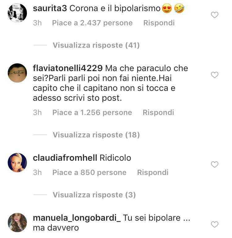 Corona dopo aver minacciato Totti fa un passo indietro e gli chiede scusa, ma interviene anche Nina Moric 5