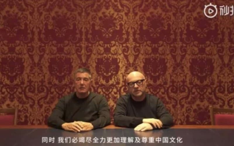 Dolce e Gabbana Video Scuse Cina