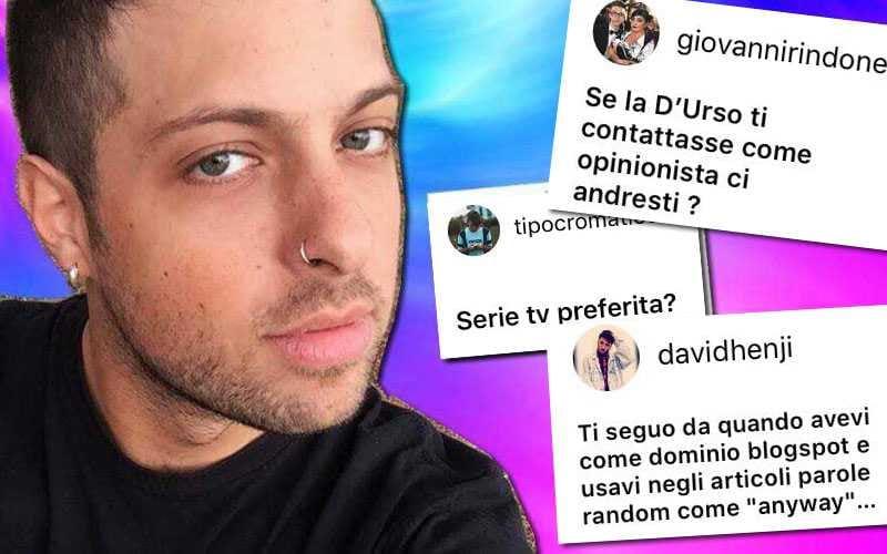 Domande Instagram Fabiano Minacci
