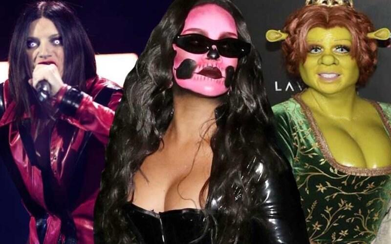 halloween stars rihanna kardashian laura pausini heidi klum
