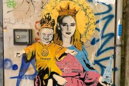 tvboy murales chira ferragni cristiano ronaldo