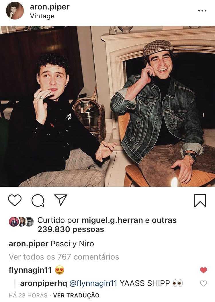 Aron Piper e Brandon Flynn flirtano su Instagram