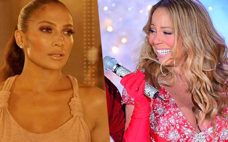 jlo jennifer lopez all I want for christmas mariah carey