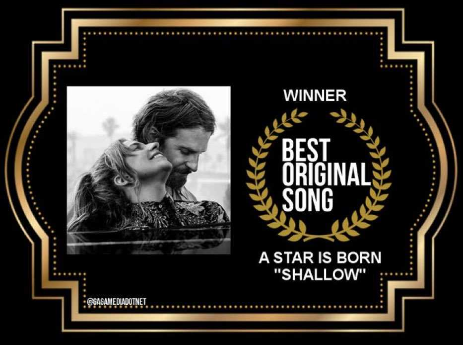 lady gaga golden globe best original song