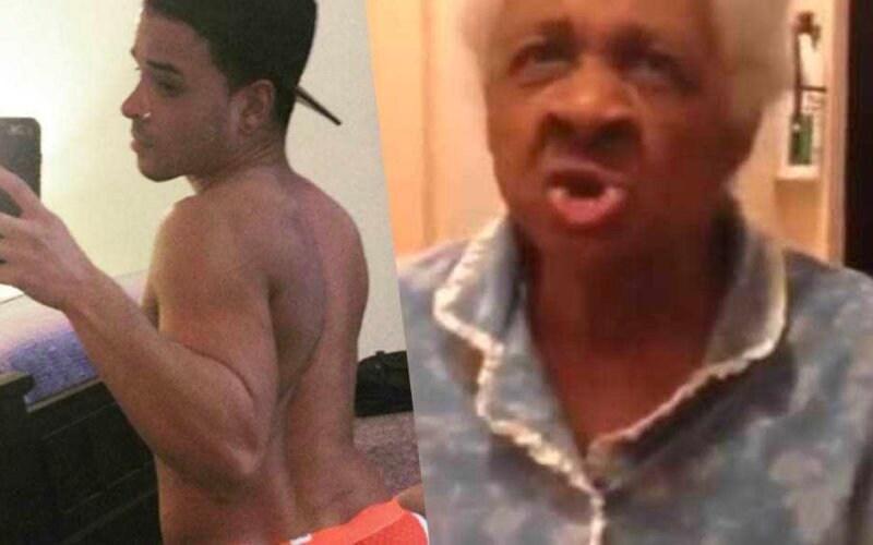 ragazzo twerking nonna