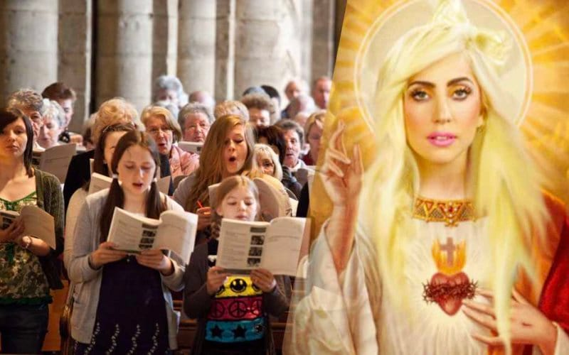 lady gaga cristian shallow church