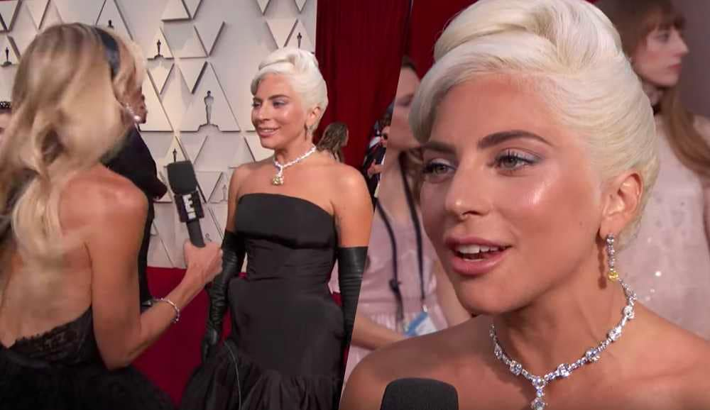 lady gaga giuliana rancic italian oscar red carpet