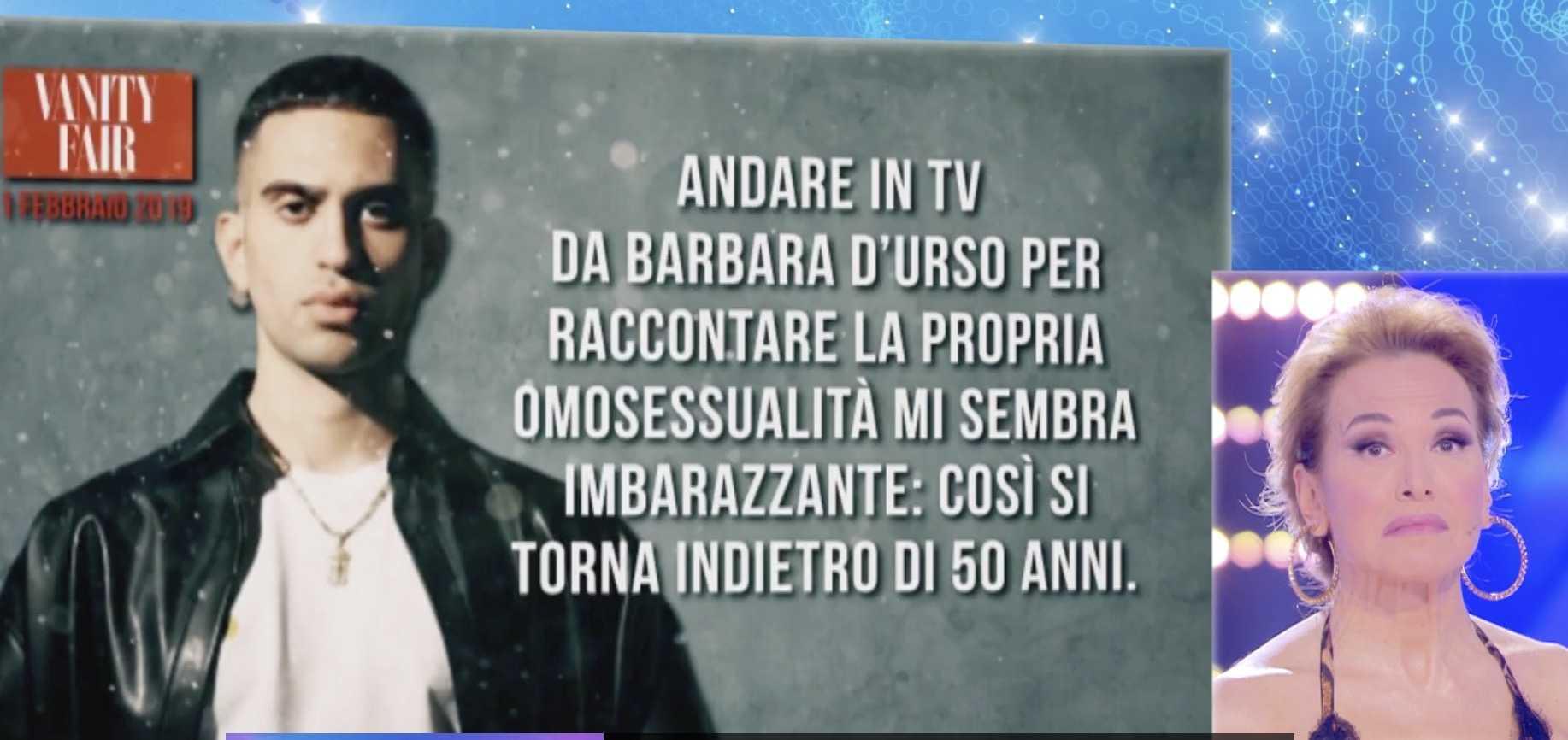 Barbara d'Urso Marco Carta Mahmood