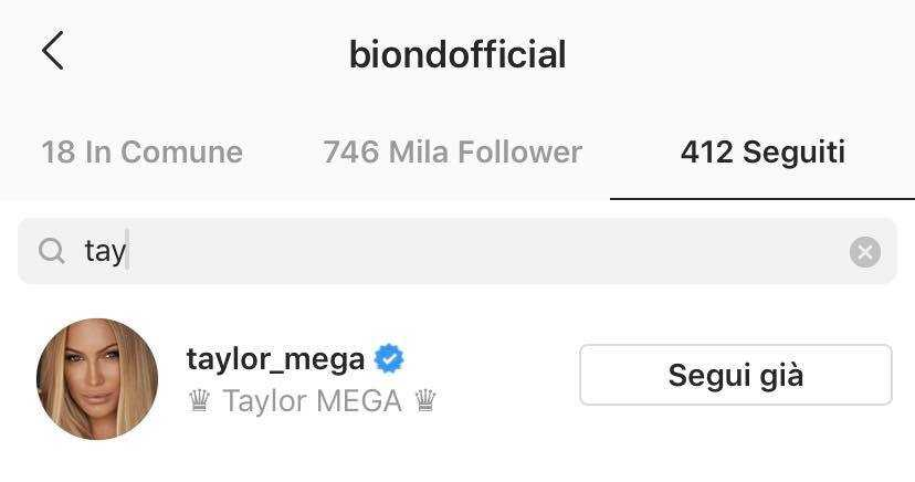 Biondo Taylor Mega instagram